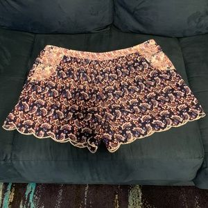 Soulmates Shorts Floral Print Navy Red White